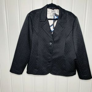 Chico's Black Quilted Blazer Jacket Size 3 XL(16)